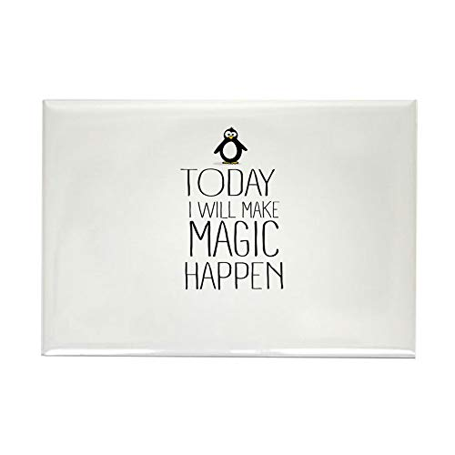 CafePress Today Magic Will Happen Magnets Rectangle Magnet, 2