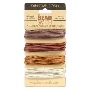 30 Foot Bronze - Hemp Twine Bead Cord 1.0mm - Bronze Colors App 30 Feet 42569
