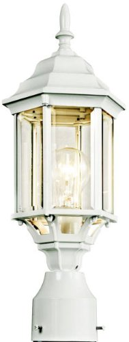 Cheap KICHLER Lighting 49256WH Chesapeake Post Mount Light, White