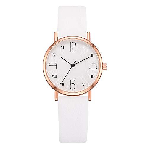 Bravetoshop Women Watches,Casual Digital Roman Scale Dial Belt Quartz Female Wristwatch(White)