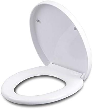 ホワイト便座浴室ラウンド同封フロント便座 ハードウェアプラスチックヒンジ