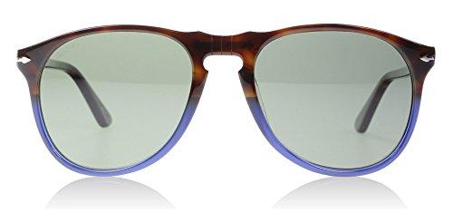 Persol PO9649S 1022/58 Brown / Blue PO9649S Oval Sunglasses Polarised Lens - Polarised Persol