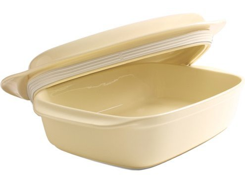 Chantal Make and Take 3.25 Quart Covered Rectangular Baker with Silicone Lid, Pure