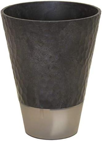 SANKO PRODUCT 木×プラスチック エコポット 匠3.5号 受け皿付き給水セット ecoブラック 640_03