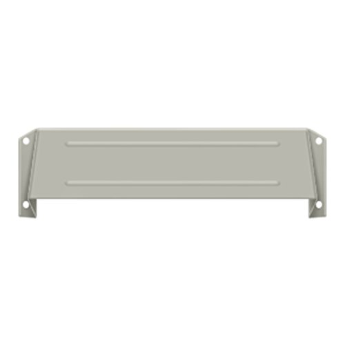 Deltana MSH158U15 Solid Brass Mail Slot Hood for Open Back Plates in Satin Nickel