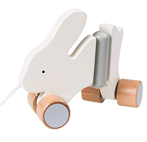 Innovations by Design Wooden Pull-Along Rabbit Toy for Beginner Walkers