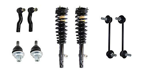Detroit Axle - 8PC Complete Front Struts, Upper Ball Joints, Sway Bars and Outer Tie Rods for 2006 2007 2008 2009 Ford Fusion/Mercury Milan 3.0L