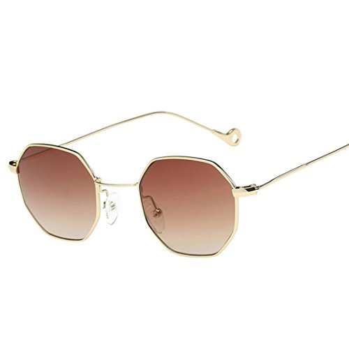 Malloom Women Men Sunglasses Vintage Retro Square Clear Lens Sun Glasses (Coffee) (Squares Sunglasses)