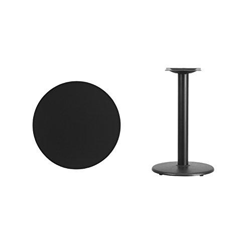 Flash Furniture 24'' Round Black Laminate Table Top with 18'' Round Table Height Base by Flash Furniture