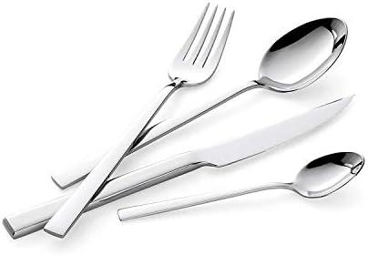 Adomor Set de Cubiertos de Mesa 24 Piezas, Servicio para 6 Personas, Acero Inoxidable Set de Cubiertos con Cuchillo Cuchara Tenedor