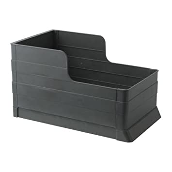 IKEA RATIONELL - extraíble bandeja de clasificación de residuos, de color gris oscuro: Amazon.es: Hogar
