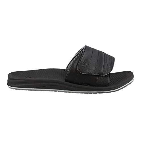 New Balance Men's Recharge Slide Sandal, Black/Grey, 10 D US