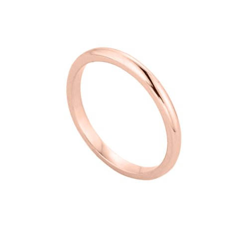 Solid 10k Rose Gold Baby Ring, Size -
