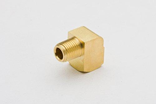 Boeray 2pcs Brass Fitting 90 Degree Barstock Street Elbow 1 4 NPT Male Pipe to 1 4 NPT Female Pipe