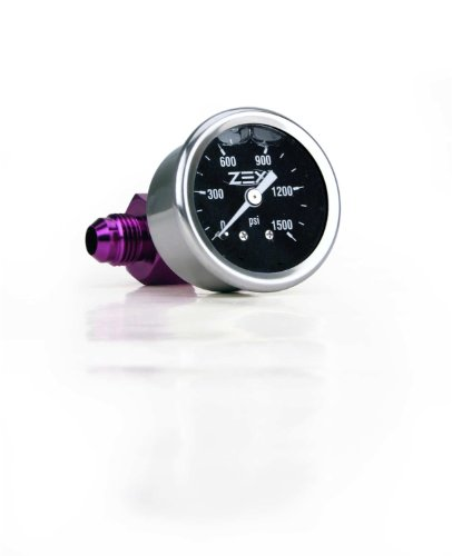 Gauge Nitrous Pressure Electric - ZEX 82324 Liquid Filled Nitrous Bottle Pressure Gauge