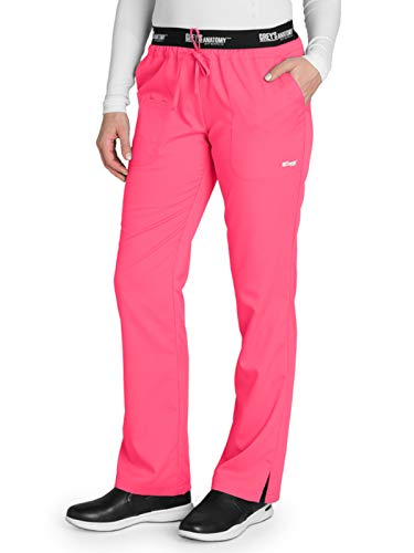 Grey's Anatomy Active 4275 Drawstring Scrub Pant Pink Pop L Tall
