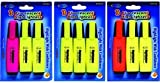 DDI - Fluorescent Highlighters - 3 pack (1 pack of 48 items)