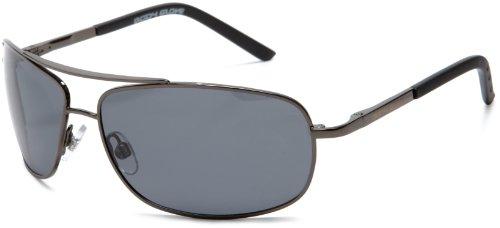 Body Glove QBG1073 Polarized Aviator Sunglasses,Shiny Dark G