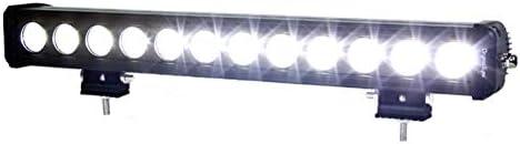 IPCW 8120-60 22 LED Flood Light Bar 1 Row 12 LED, 120W. 60-Degree. B3-Bottom Mount, Smooth