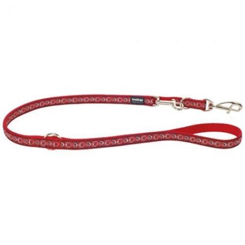 Red Dingo Cosmos Red multi-purpose dog leash 6,5ft Medium