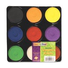 Tempera Blocks, Non-Toxic, 9 Set, Assorted, Sold as 1 Set