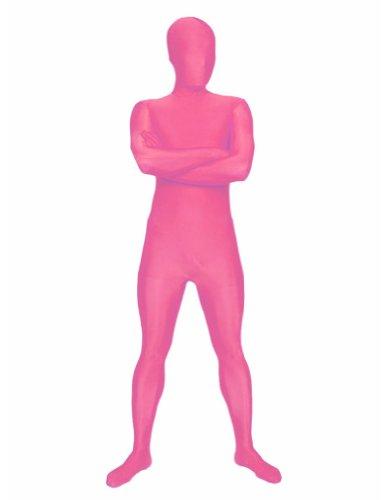SecondSkin Men's Full Body Spandex/Lycra Suit, Pink, Large
