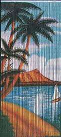 ABeadedCurtain 125 String Waikiki Beaded Curtain Handmade with 4000 Beads Hanging Hardware 38 More Strands and Beads