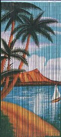 Waikiki Beaded Curtain 125 Strands (+hanging hardware) Hanging Bamboo Curtains