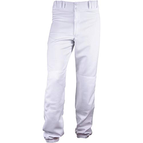(3N2 Youth Stock Poly Elastic Hem Baseball Pant White Youth Medium (10-12))