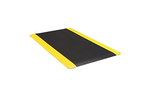 Supreme Diamond Foot Anti Fatigue Floor Mat Black/Yellow 3' X 10' X 11/16'' by Pro Mat (Image #1)