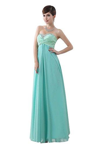 Kleider beauty bis Beeded Formale Hellblau Spitze emily Blau Ball Trägerlos naaq10ZwW