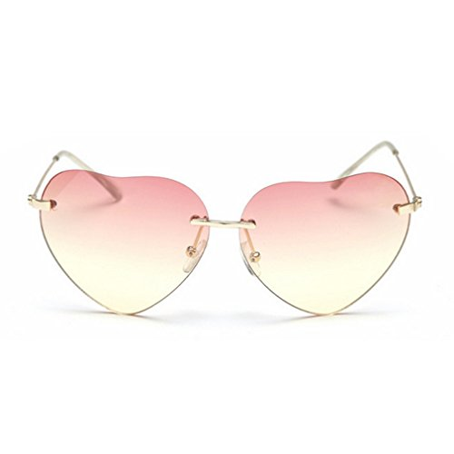 G&T 2016 New Girls Fashion Personality Cute Heart-Shaped Lens Uv Protection Beach - Sunglasses Prato
