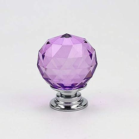 Colore : Transparent XLDN-Home Decoration Decorazione Domestica 10 PZ Maniglia per cassetto Singolo Foro sferico in Cristallo Trasparente con Vetro 30mm