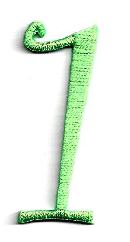 green applique numbers - 2
