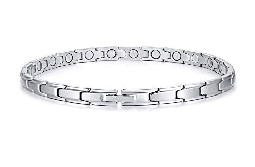 MEALGUET Stainless Steel Magnetic Therapy Anklet Bracelet,Arthritis Pain Relief & Inflammation Reduction for Feet and Ankles for Dad Men Women
