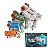 Laser Tag Infrared Guns and Vests - Laser Battle Mega Pack of 4 - Infrared 0.9mW