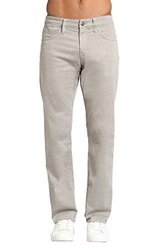 Mavi Men's Matt Classic Mid-Rise Relaxed Straight-Leg Jeans, Grey Twill, 35W X 32L