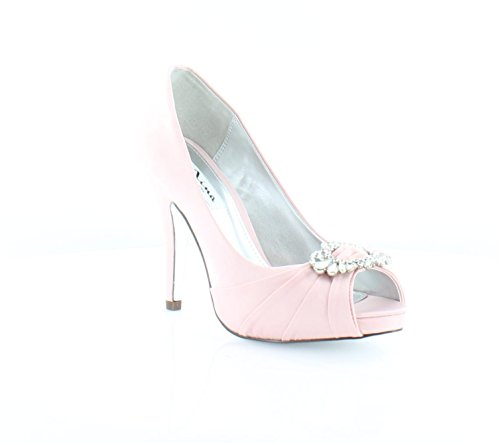 Pink Satin Shoes (Nina Elvira Women's Heels Ballet Pink Size 7.5 M)