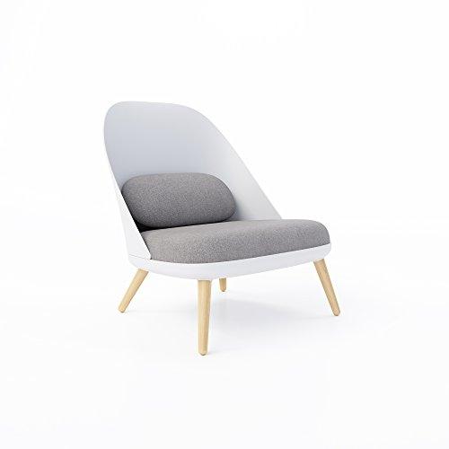 Jamesdar JBCHA283-WHGY Blythe Lounge Chair, White/Gray (Polyester Modern Lounge Chairs)