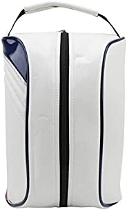 Golf Shoe Carrier Bag,PU Leather Golf Shoe Carrier Bag Home Travel Dustproof Storage Bag Accessory Bag White
