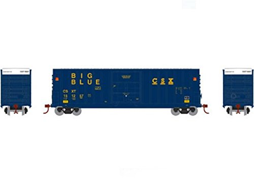 Roundhouse Athearn HO 50' Ext Post High Cube Plug Box, CSX #151257