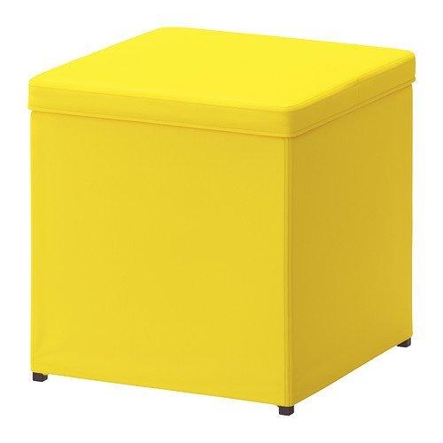 Yellow Storage Ottoman - Ikea Ottoman with storage, Ransta yellow 1826.202020.3838