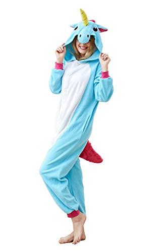 Cousinpjs Adults Onesie Unicorn Cosplay Costume Sleepwear Halloween Pajamas