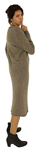 Braun de Design Strick Mein HV400 Mallorca Kleid Lagenlook Damen g8wqE