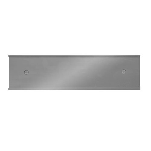 Wall Plate Plates 2 Hole - Nameplate Holder - Wall or Door - Silver 8 x 2-10 Pack - Made in the USA!