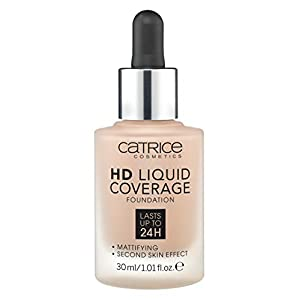 Catrice HD Liquid Coverage Fond de teint liquide, couleur beige chaud 40 (1 x 15 g)