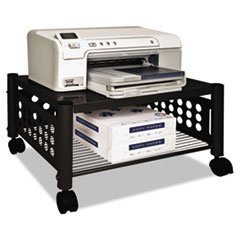 * Underdesk Machine Stand, 1-Shelf, 21-1/2w x 17-7/8d x 11-1/2h, Black