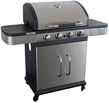 GRILL GARDEN Barbecue a gaz 4 brûleurs Fonte émaillée 62