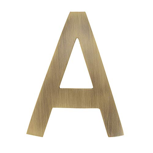 Architectural Mailboxes 3582AB-A House Letter 4 inch Antique Brass