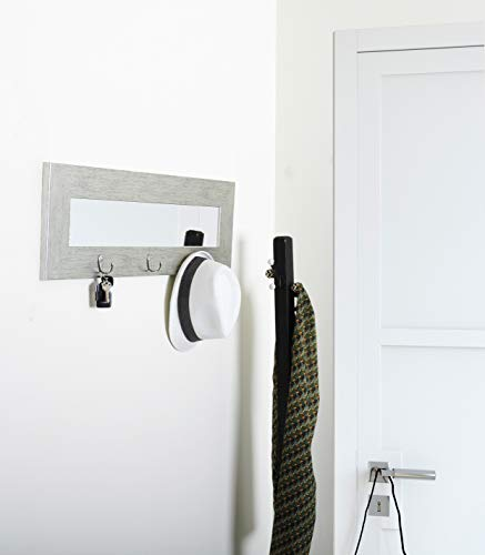 BrandtWorks, LLC AZBM004HK Hook Mirror Silver -